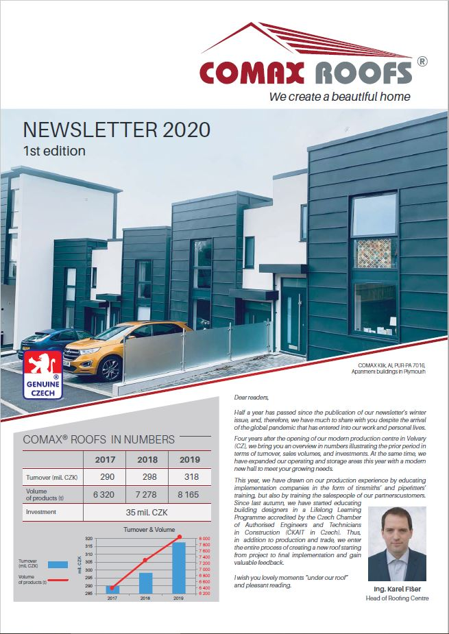 COMAX ROOFS Newsletter 2020