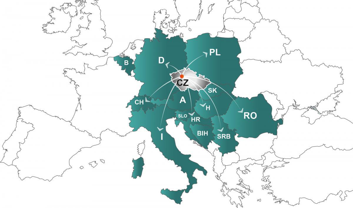Karte, wo wir liefern