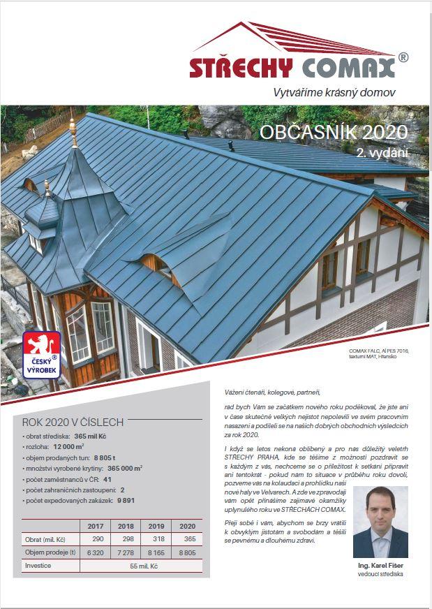 Zpravodaj Střechy COMAX 2020 2. vydání