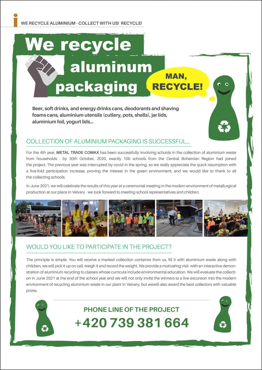 recycle with us poster