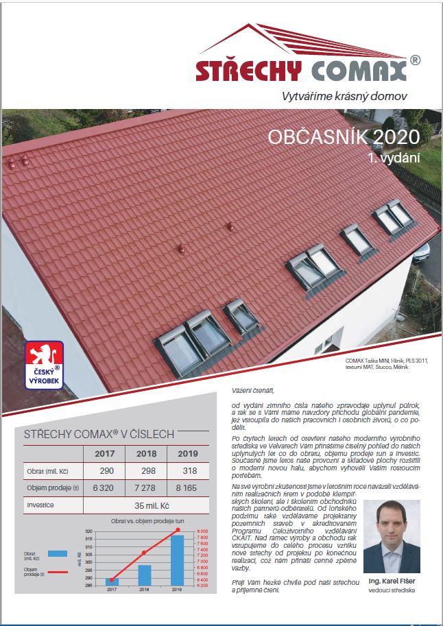 Zpravodaj Střechy COMAX 2020 1. vydání